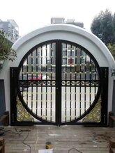 东莞自动铝合金庭院别墅大门,深圳铸铝门价格图片