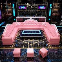 广州定制小包厢沙发KTV酒吧沙发图片