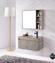 現代簡約304不銹鋼浴室柜組合陶瓷盆洗漱臺面盆洗臉盆柜圖片