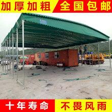 膜结构停车棚厂家-推拉棚-膜结构雨棚图片