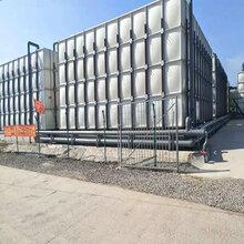 玻璃钢水箱消防水箱组合水箱生活水箱方形屋顶不锈钢水箱图片