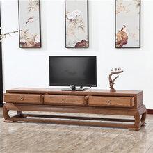 木言木语黄柏木家具新中式地柜608-8#新款实木电视柜图片