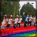 大型戶外親子彩虹滑道適合景區安裝的七彩滑道游樂設備