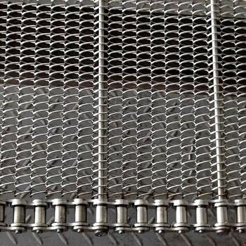 油炸流水线输送网带厂家-油炸机食品输送网带规格定制