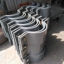 A10四螺栓管夾扁鋼管夾抱箍匯鵬鍍鋅雙排螺栓管夾圖片