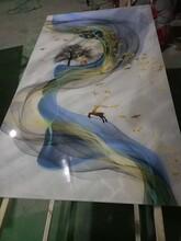 东莞桌面隔断背景墙UV喷绘玻璃加工定制厂家图片