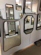 厂家直销定制不锈钢包边镜子卫生间挂壁式浴室镜图片