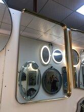 南京高档欧式不锈钢包边镜子浴室镜卫浴洗手台卫生间化妆镜加工定制厂家图片