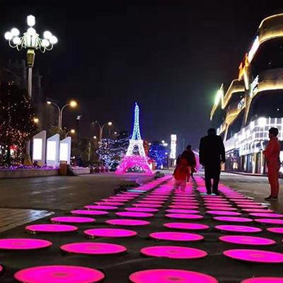 圆形地砖感应灯首信智享互动圆形地砖感应灯可靠