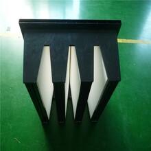 塑料框组合式FV亚高效过滤器黑色塑料框厢式大风量高效图片