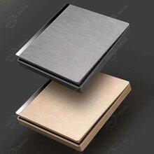 信泰電器墻壁開關廠家批發新款亞克力銀條大板金色灰色橫拉絲開關面板五孔插座圖片