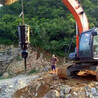 礦井涵洞掘進分裂機來電洽談,廣東露天土石方劈裂機爆破施工方法