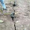 鑿巖機打不動巖石解體漲裂機新型破石頭機型號規格,海南石灰巖土石方開挖就用劈裂機
