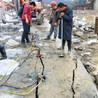 石頭硬挖不動靜爆石頭器產量高的靜態爆破設計,浙江巖石爆破機電動巖石分裂機