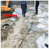 混泥土拆除液压破裂棒湖南长沙矿山劈石机沉积岩破碎