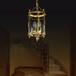 原裝進口玄關過道小陽臺美式復古全銅小吊燈