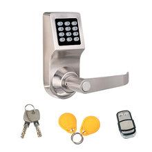 锌合金密码门锁公寓木门防盗门一体锁球形替换密码配卡智能锁