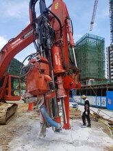 石方平场矿山硬岩破碎基坑开挖免爆破设备广西钻科钻劈一体机挖改钻孔裂劈