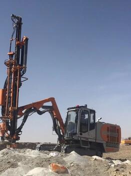 志高钻机空压机贵州总代理ZEGA一体液压钻机T635遵义爆破公司场地平整