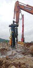 挖基坑道路拓宽坚硬石头破碎分裂机效果好免放炮采石设备