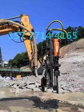 机械破碎石头用钻孔劈裂一体机辅助炮锤产量大效率高