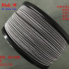 厂家直销8mm花色防静电绳防静电门帘导电绳防爆专用绳图片