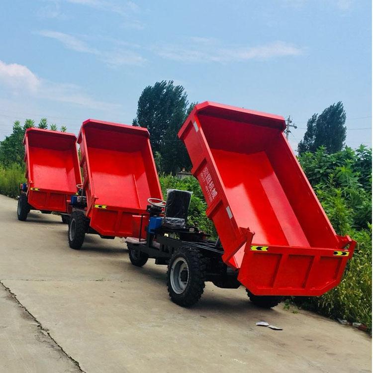 自卸式工程三轮车翻斗式电动三轮车载重3吨矿用出渣车生产厂家