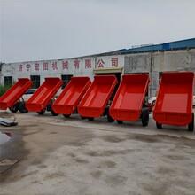 矿用三轮工程车后卸式翻斗车建筑工地运输车3吨图片
