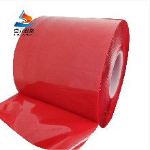 批发红膜透明双面胶带强力无痕防水双面胶亚克力耐高温双面胶
