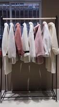反季清倉顆粒羊絨大衣19冬羊剪絨皮草外套品牌折扣女裝尾貨批發圖片