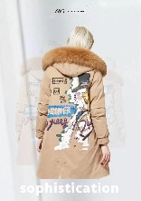 西树影黛狐狸毛白鸭绒羽绒服广州卓越女装一站式低成本供货图片