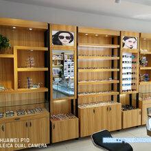 佛山眼镜店装修眼镜展示柜铁艺结合太阳镜眼镜柜台设计定制