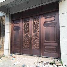 天津铸铝门,汉沽区入户门,铸铝门,铜门防盗门厂家图片