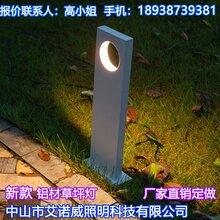 艾诺威小区草坪灯安装应用草地灯效果图图片