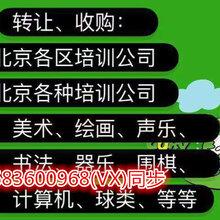 北京聲樂培訓公司注冊轉讓