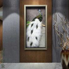 酒店孔雀装饰画孔雀创意画孔雀立体画图片