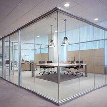 大连西岗办公玻璃隔断定做图片