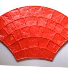 清遠佛岡縣透水混凝土壓花膠粘石陶瓷防滑路面壓花模具廠家圖片