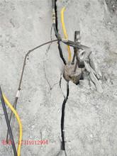 红安县石灰石液压柴动岩石劈裂棒使用方法使用注意事项图片