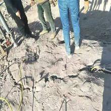 太原礦山開采不能放炮用什么機器裂石成本低圖片