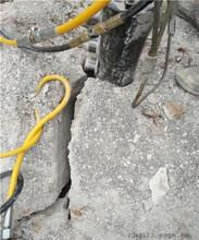 挖地基石头太硬炮锤冒火用分裂机裂石枪南昌图片