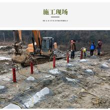 黄石比膨胀剂快的裂石设备大劈力分石机图片