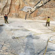 贛州混凝土樁拆除裂石頭開石機圖片