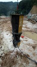 定西地基硬石頭挖機挖不動用開山機圖片