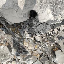 海西工程路基破石頭用分裂機圖片