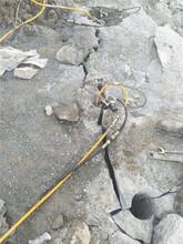 臨沂石頭硬鉤機鉤不動怎么辦劈裂機破石速度快圖片