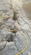 中山荒料巖石開采劈裂機孔距間隔大圖片