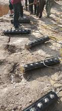 新疆露天大型礦山采巖石劈裂機多少錢一臺圖片