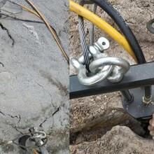 秦皇島鎂石開采巖石石頭劈裂分石機產量多少圖片