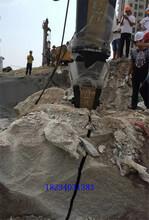 济宁洞采石头无声液压劈裂机孔距间隔大图片